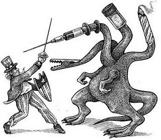 """El gobierno viene a """"rescatar"""" al pueblo de ese gran villano"""