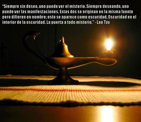La lámpara de aladino representa el misterio tras el deseo.
